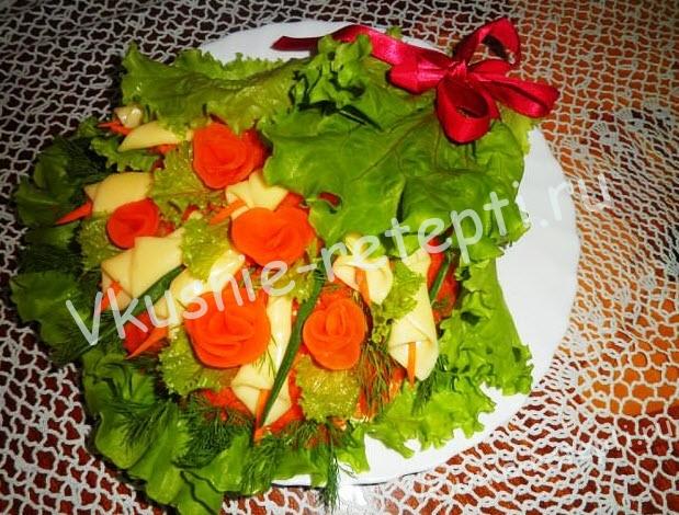 салат с шампиньонами Букет, фото