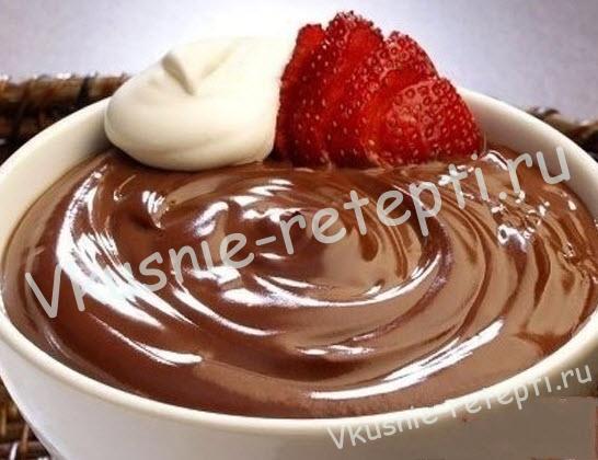шоколадный мусс, фото