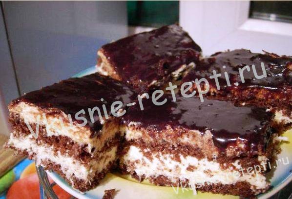 шоколадный кокосовый торт, фото