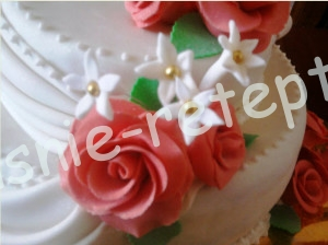 розы из мастики, фото
