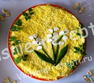 Салат из крабовых палочек Ландыш