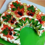 салат с ветчиной Русская красавица, фото