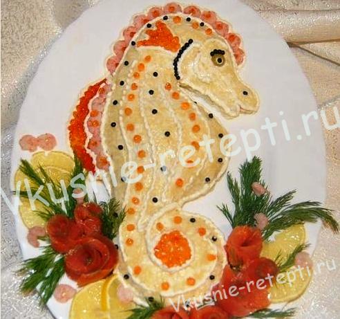 салат с креветками, фото