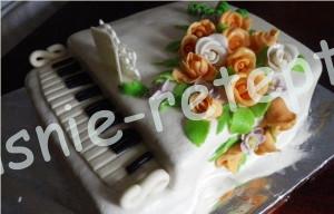 торт из мастики пианино, фото