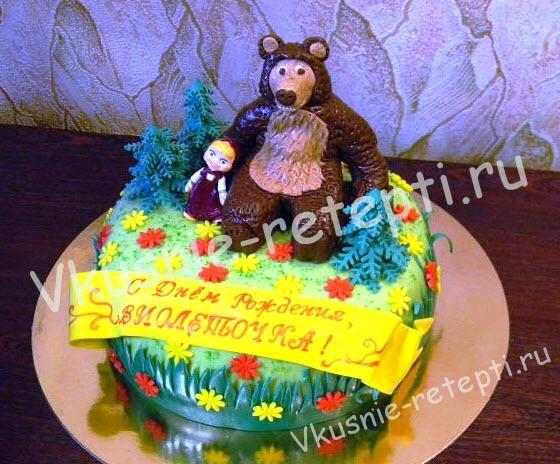 Торты детские маша и медведь рецепты и