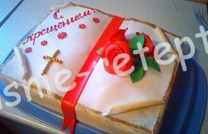 торт на крестины для девочек