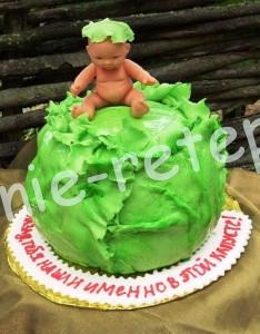 торт на рождение ребенка, фото