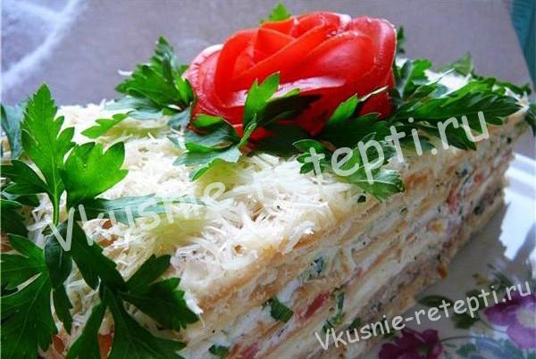 закусочный торт, фото
