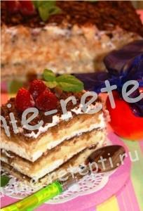 бисквитный торт, фото
