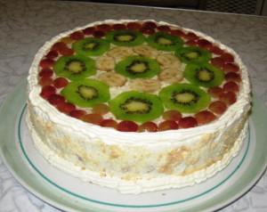 бисквитный торт фруктовый фото