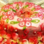 простой кекс Розовые облака, фото