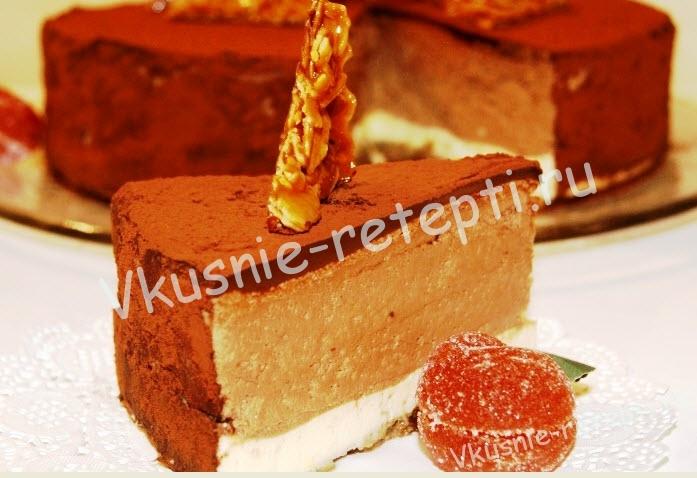 шоколадный торт, фото