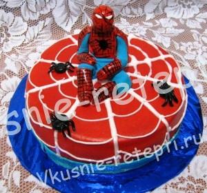 торт человек паук, фото
