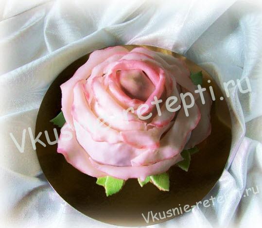 пирожное роза рецепт