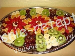 украшение из фруктов, фото