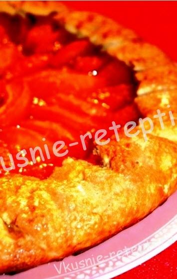 пирог с абрикосами, фото