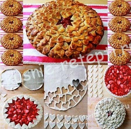 пирог с вишней, фото