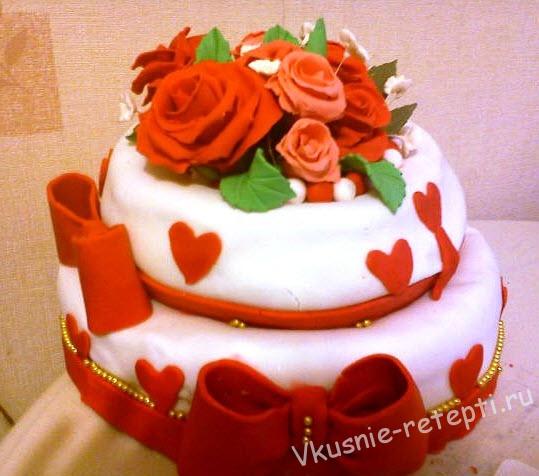 Вкусный торт из мастики