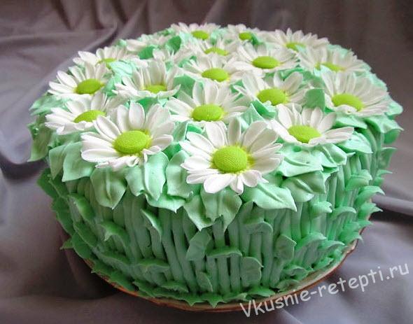 Торт бисквитный с кремом из сгущенки рецепты
