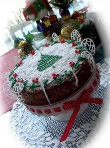 рождественский пирог фото