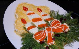 салат рождественская свеча