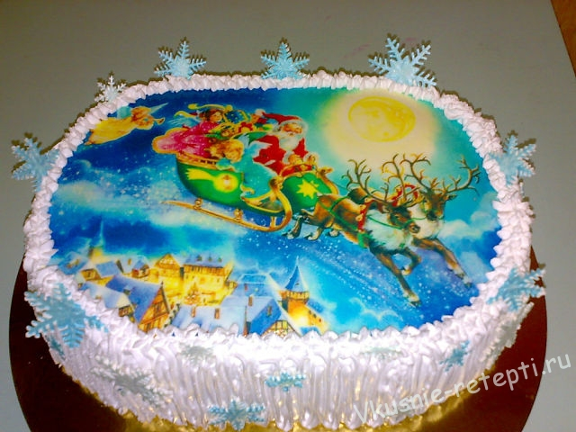 Новогодние картинки на торты