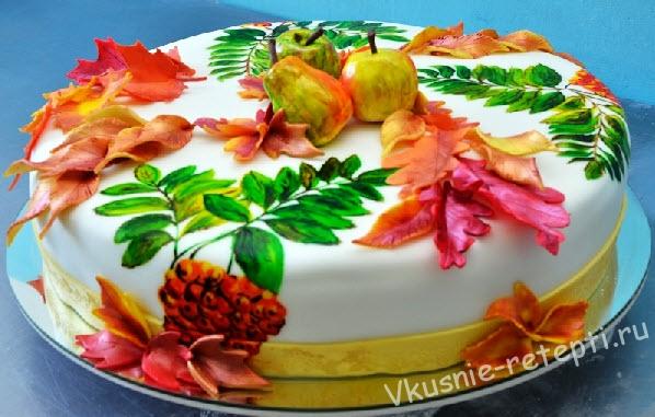 фото торт осень