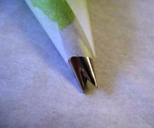 как сделать листочки из крема фото
