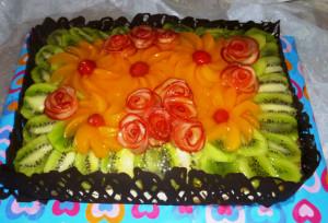 торт с фруктами фото