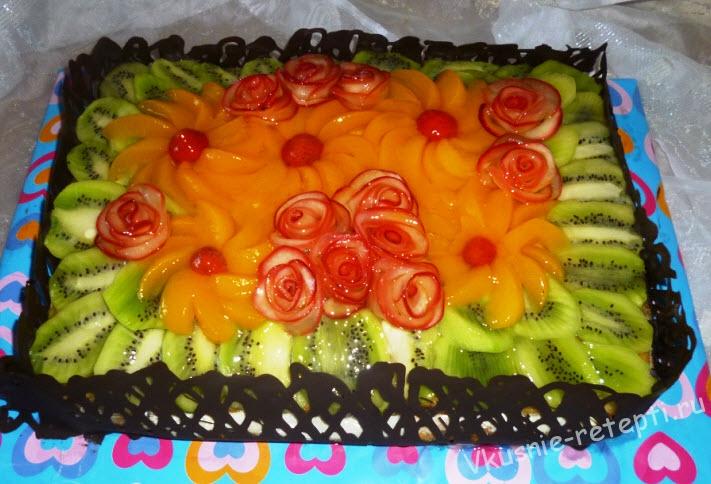 Рецепты праздничных тортов с фруктами