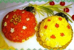 салат новогодние шары фото