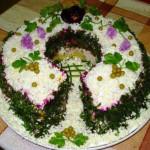 салат Подкова фото