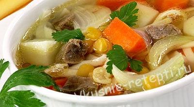 Суп - лапша с мясом