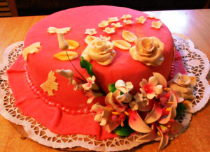 торт с марципаном фото