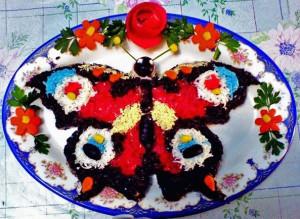 салат бабочка рецепт с фото