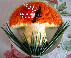 салат в форме гриба фото
