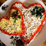 слоеный праздничный салат фото