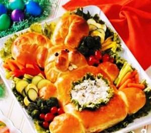 пасхальный хлеб Заяц фото