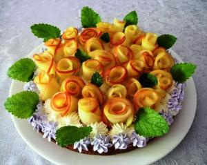 пирог с розами фото