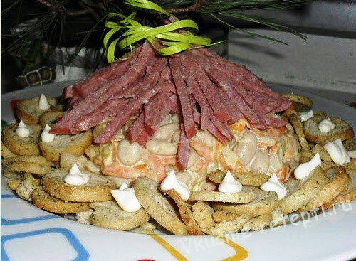 салат лесная хижина фото