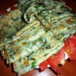 блинчики с зеленью фото