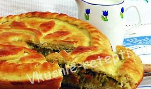 капустный пирог фото