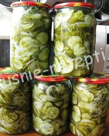салат из огурцов на зиму фото