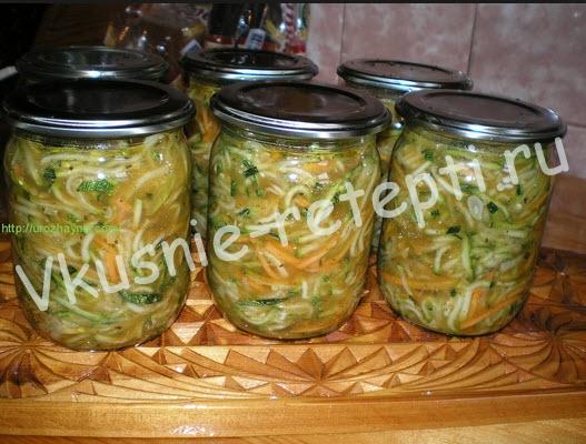 салат по-корейски из кабачков фото