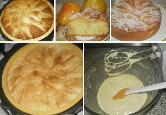 Пирог с грушами