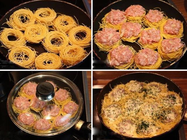 Приготовить гнезда рецепт