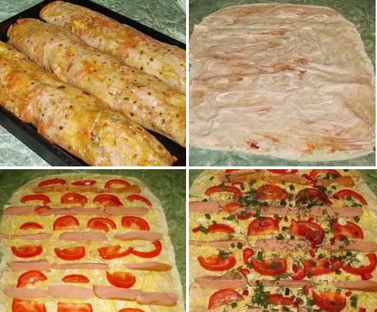 Рецепт приготовления лаваша с начинкой в домашних условиях 33