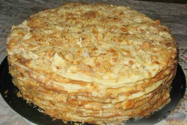 Торт «Наполеон» на сковородке