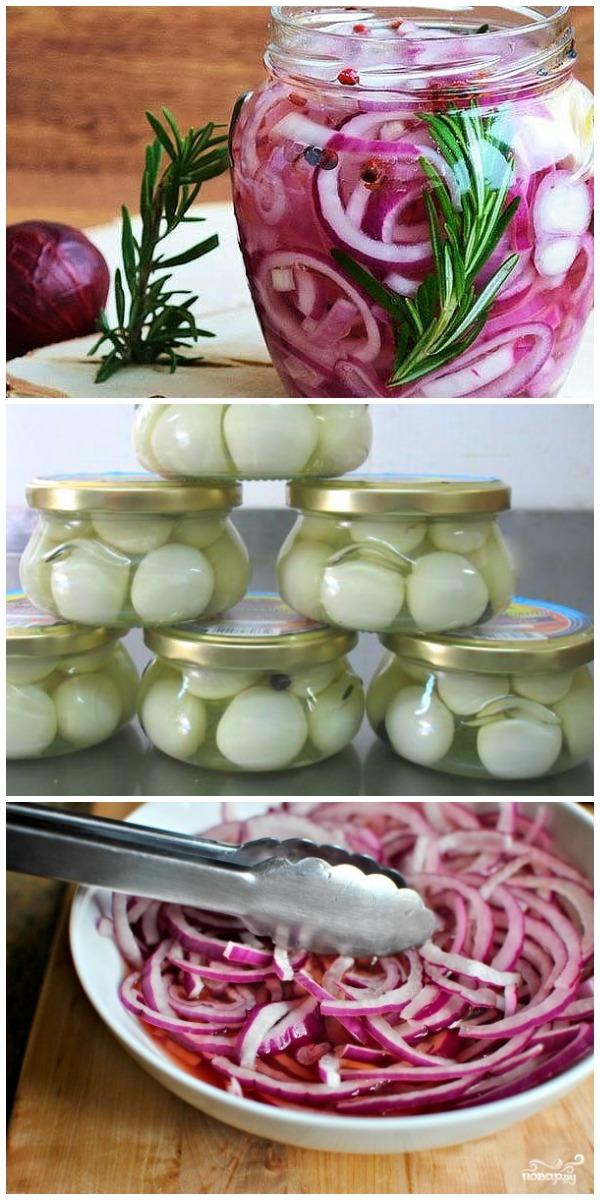 Интересный и вкусный рецепт маринованного лука за 10 минут. Готовлю перед самым приходом гостей