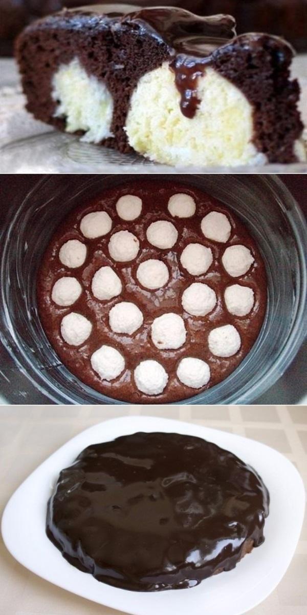 Шоколадный пирог с творожными шариками, ПЕРЕД КОТОРЫМ ПРОСТО НЕВОЗМОЖНО УСТОЯТЬ